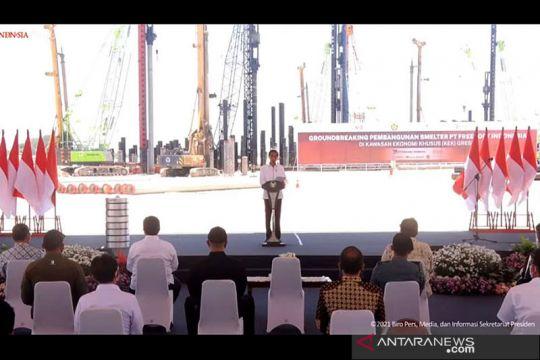 Presiden sebut Smelter Freeport di Gresik buka 40.000 lapangan kerja