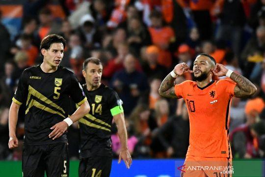 Kualifikasi Piala Dunia : Belanda pesta enam gol ke gawang Gibraltar