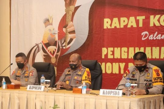 Kapolda Papua pimpin rapat koordinasi pengamanan penutupan PON XX