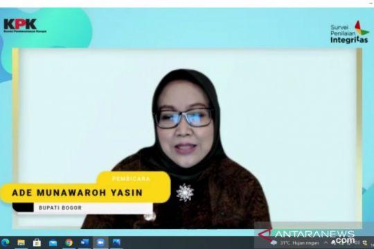 Bupati Bogor mendorong sosialisasi masif survei integritas KPK