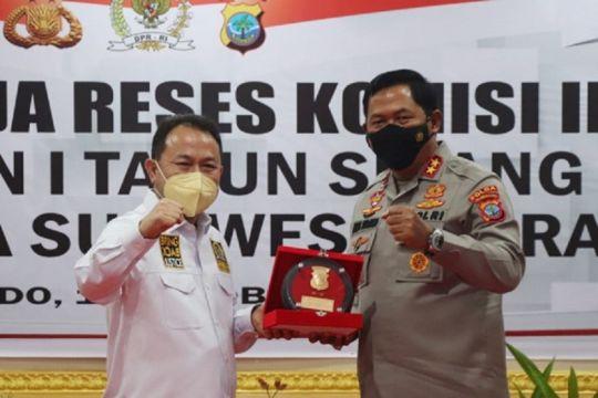 Komisi III DPR kunjungi Polda Sulut, jalankan pengawasan mitra kerja