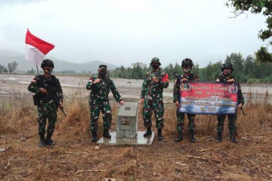 Menjaga patok batas RI-Timor Leste