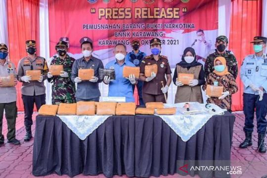 BNN sita 26 kg ganja dalam karung di pesisir utara Karawang