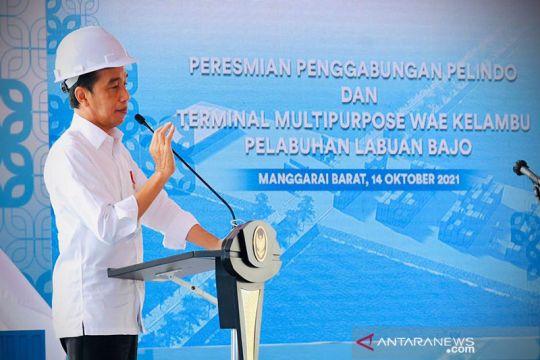 Presiden Jokowi resmikan holding Pelindo dan Terminal Wae Kelambu