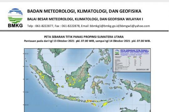 BMKG sebut terpantau ada 31 titik panas di Sumatera Utara