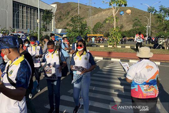 """PB PON bagikan koran """"Arena PON Papua"""" sebarluaskan prestasi atlet"""
