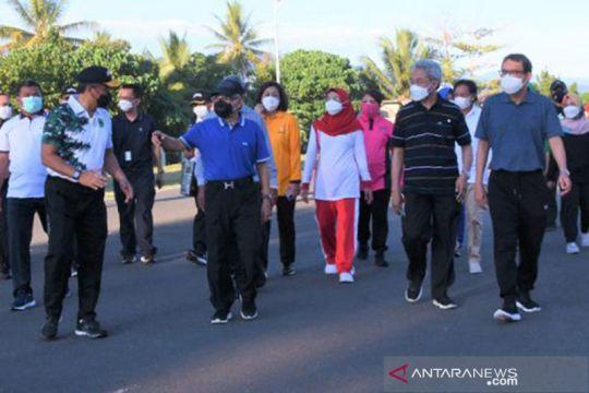 Wakil Presiden olahraga bersama Forkopimda Papua Barat
