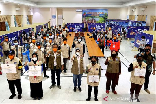 BNPB beri penghargaan kepada 445 relawan prokes PON XX Papua