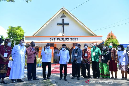 Wapres Ma'ruf beri bantuan kepada gereja di Papua Barat