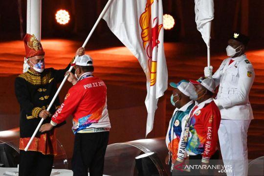 Papua serahkan tongkat estafet tuan rumah PON ke Aceh dan Sumut