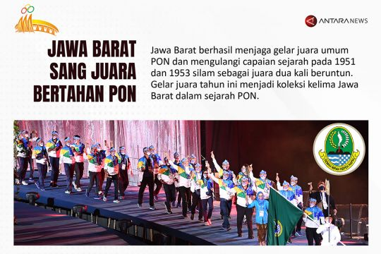 Jawa Barat sang juara bertahan PON