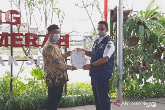 Anies: IMB Kawasan Tanah Merah jadi yang pertama di Indonesia