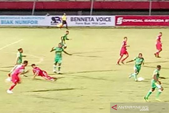 Kalteng Putra merasa dirugikan meski menang 1-0 atas PSBS Biak