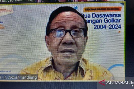 Akbar Tanjung : Sejarah Golkar modal menangkan Pemilu 2024