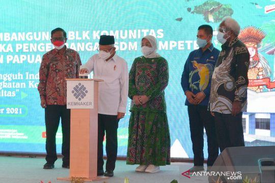 Wapres resmikan BLK Komunitas Papua dan Papua Barat