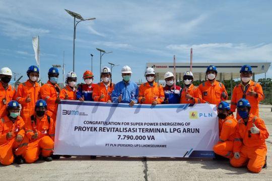 PLN pasok listrik platinum 7,79 MVA untuk terminal LPG Arun