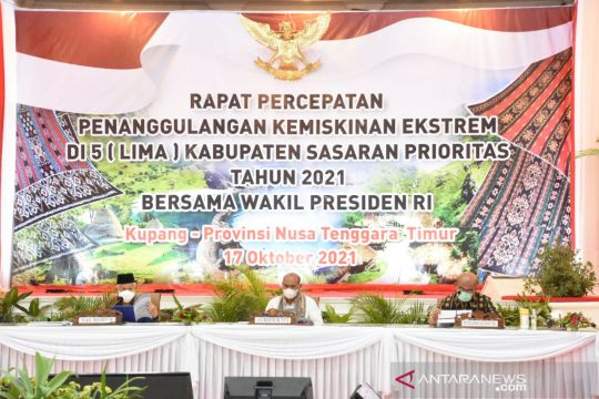 Wapres pimpin ratas penanggulangan kemiskinan ekstrem di Kupang