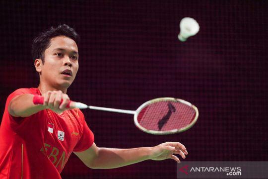Ginting buka kemenangan Indonesia 1-0 atas China di final Piala Thomas