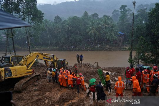 Bencana longsor di Kerala, India