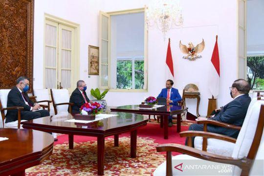 Presiden Joko Widodo menerima kunjungan kehormatan Menlu Malaysia