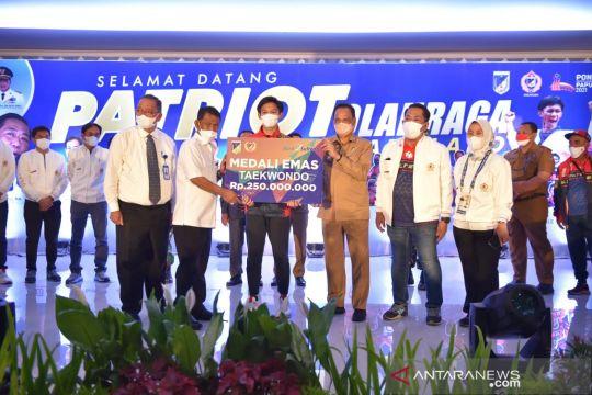 Atlet Sulawesi Tengahdiguyur bonus ratusan juta rupiah dan rumah