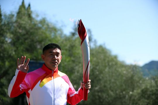 Protes aktivis HAM warnai upacara penyalaan obor Olimpiade Beijing