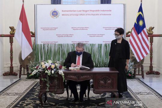 Pertemuan bilateral Menlu Indonesia dan Malaysia