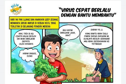 Nana Maulana juara pertama Lomba Komik Digital Silih Tulungan