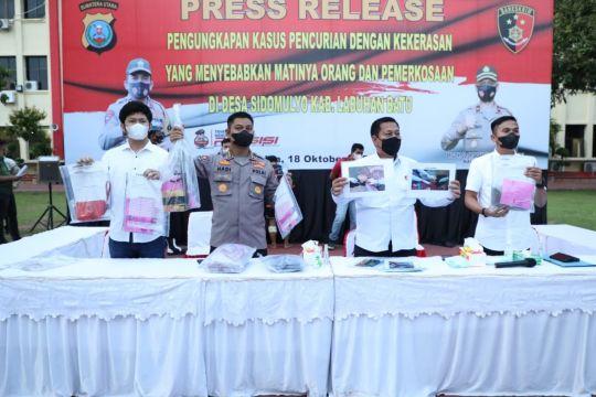 Polda Sumut meringkus pelaku pembunuhan dan pemerkosaan di Labura