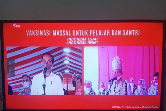 """Presiden tertawa mendengar """"tebak-tebakan"""" pelajar Lampung"""