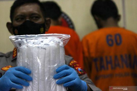 Rilis kasus peredaran narkotika di Jatim