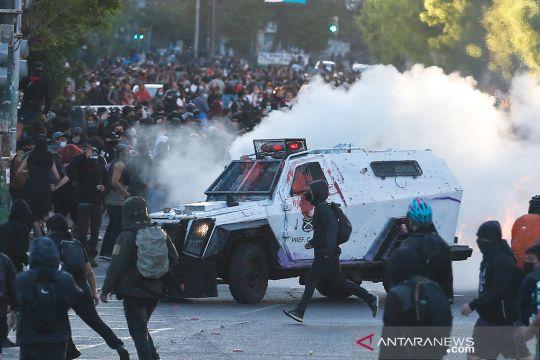 Aksi unjuk rasa di Chili
