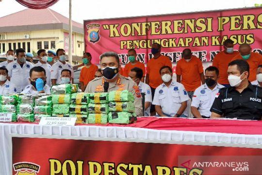 Polrestabes Medan menggagalkan peredaran 23 kilogram sabu-sabu