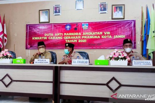 Penegak Pramuka Kota Jambi dijadikan duta narkoba