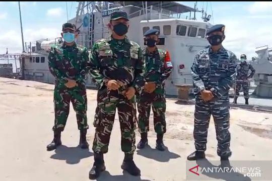 KRI Badau amankan perairan Kalsel saat kunjungan Presiden Jokowi