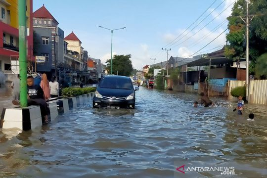 Sejumlah kawasan di Samarinda masih banjir