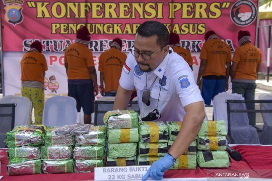 Rilis kasus narkoba jenis sabu di Medan