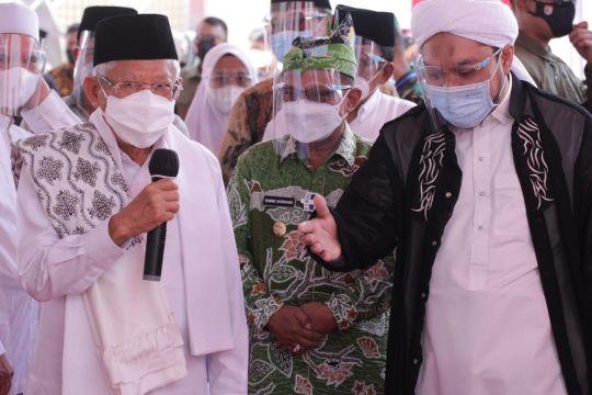 Wapres apresiasi vaksinasi di Ponpes Salafiyah Syafi