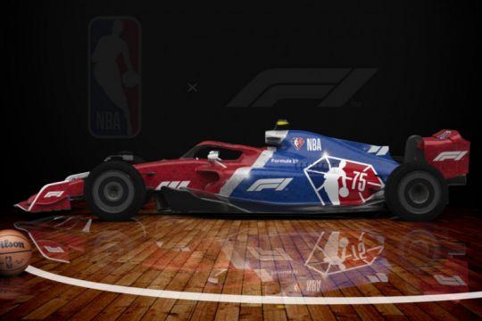 NBA dan Formula 1 umumkan kemitraan dengan hadirkan mobil corak khusus