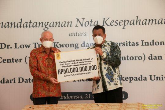 UI dapat donasi beasiswa Rp50 miliar dari Dato' Dr. Low Tuck Kwong