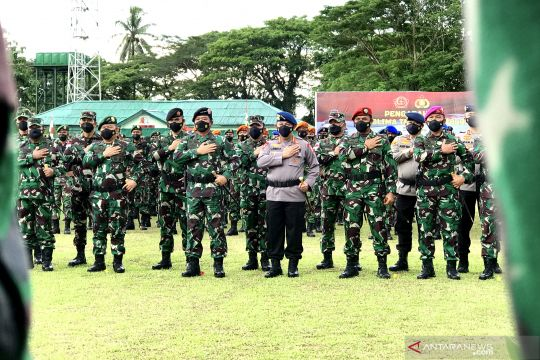 Panglima berpesan kepada prajurit selalu jaga manunggal dengan rakyat