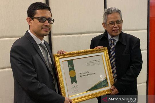 Polteknaker raih penghargaan internasional untuk komitmen K3