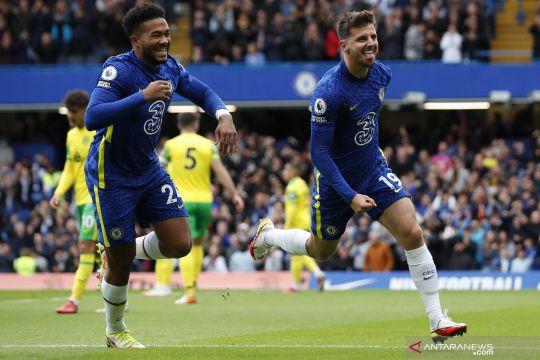 Liga Inggris: Babak pertama usai Chelsea unggul 3-0 atas Norwich