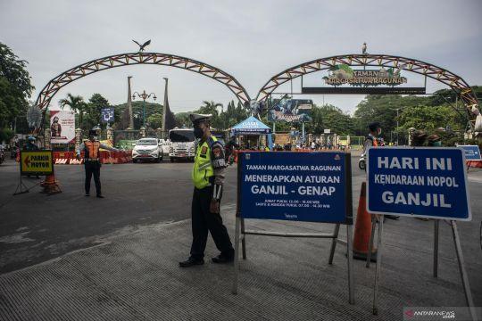 Penerapan aturan ganjil genap menuju kawasan wisata Ragunan