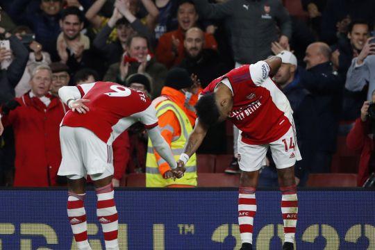 Mikel Arteta senang dengan performa Aubameyang bersama Arsenal