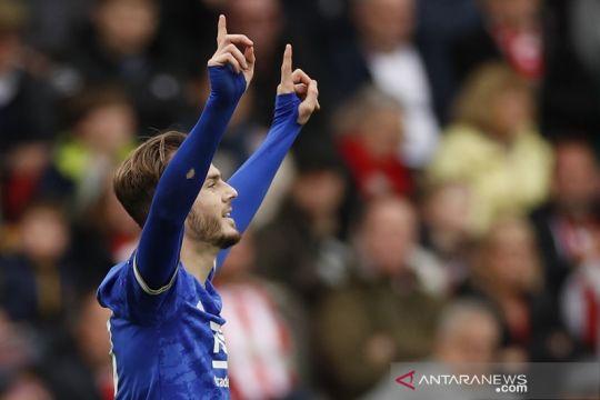 Leicester amankan tiga poin penuh dari Brentford
