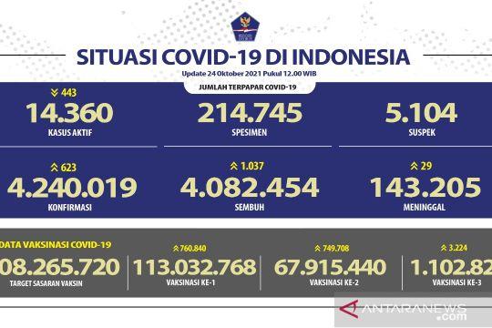 Kasus COVID-19 bertambah 623 orang, DKI laporkan tambahan terbanyak