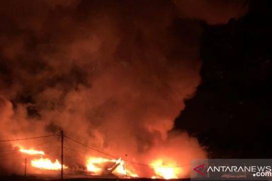 Kebakaran terjadi di Pasar Sentral Wosi Manokwari