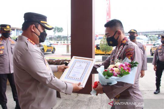 Polresta beri penghargaan Bripka Andriansyah peraih medali PON
