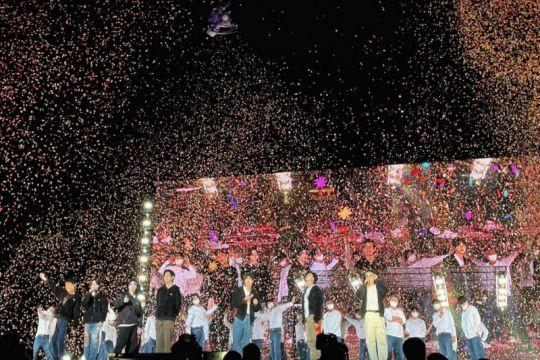 "Pesan harapan BTS lewat konser ""BTS Permission To Dance On Stage"""
